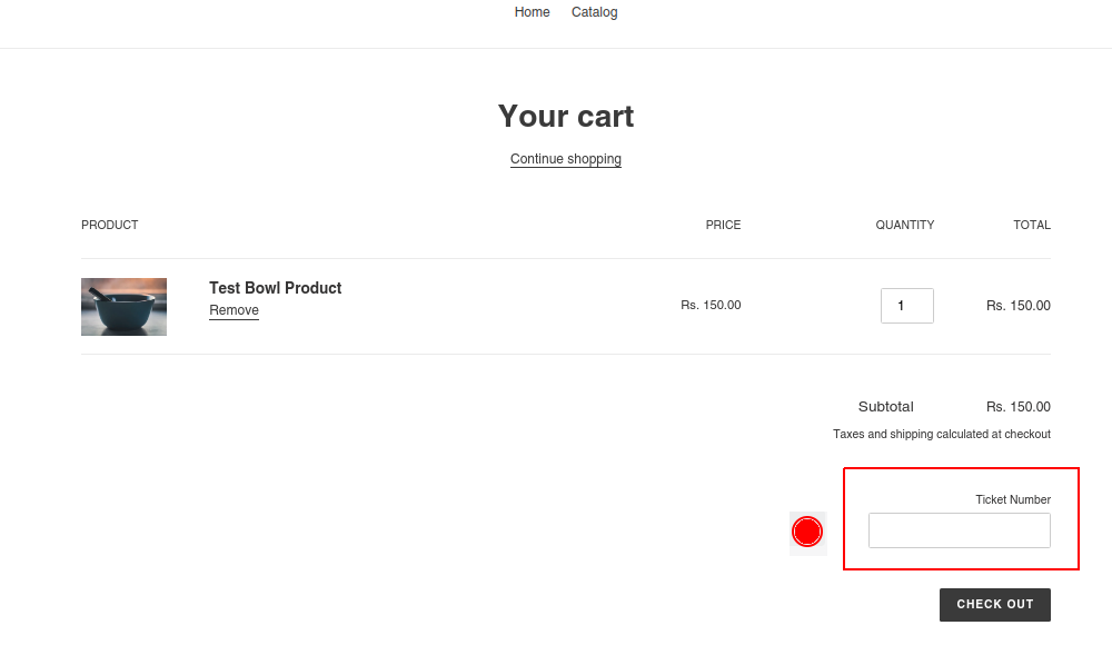 how to add custom field to Shopify cart page
