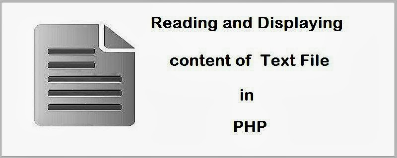Reading And Displaying Content Of The Text File In PHP