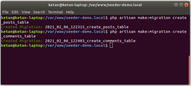 how to seed tables having relationships in laravel 8